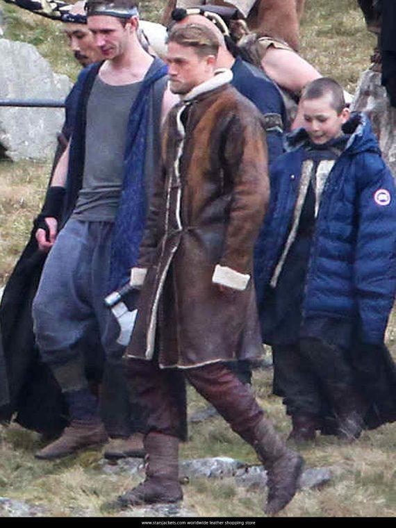 King Arthur Charlie Hunnam Leather Coat