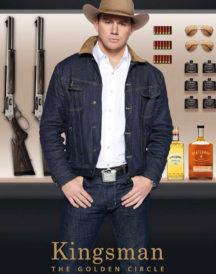 Kingsman 2 Channing Tatum Statesman Secret Agent Blue Denim Jacket