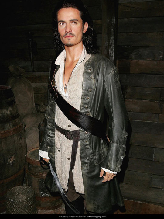 Orlando Bloom Pirates of the Caribbean 5 Will Turner Trench Coat
