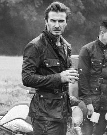 David Beckham Steve Mcqueen Leather Coat