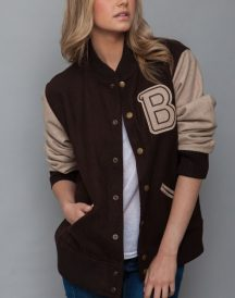 Hotline Miami Varsity Style Women Brown Jacket