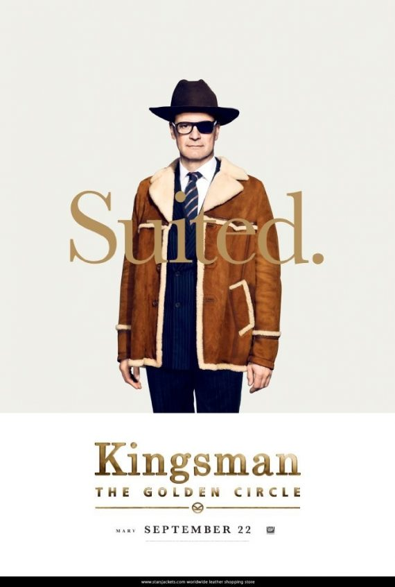 Kingsman Colin Firth Brown Cotton Coat