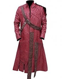 Amazon.com_ Men's Guardians of the Galaxy Star Lord Peter Quill Trench Leather Coat Jacket