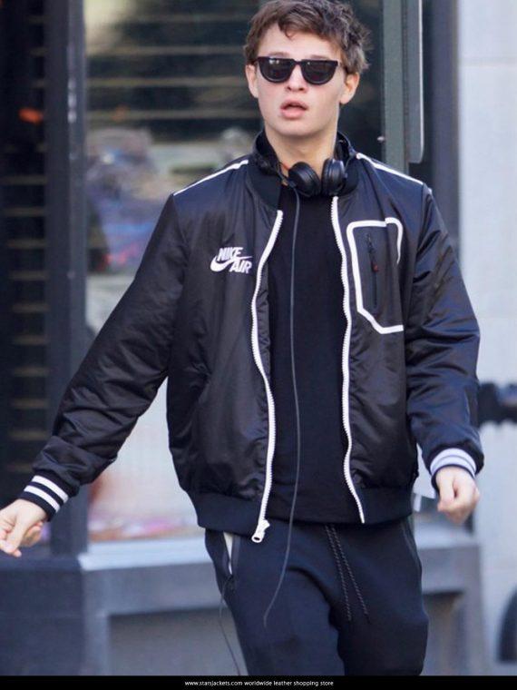 Ansel Elgort Black Jacket Baby Driver