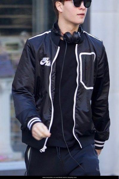Baby Driver Ansel Elgort Black Jacket