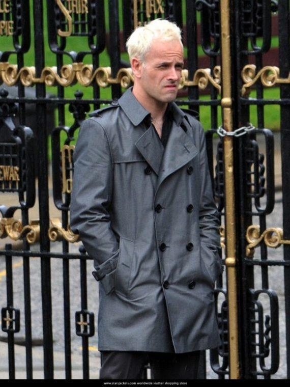 Gray Trench Coat Jonny Lee Miller
