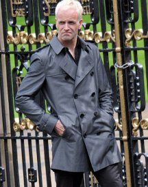 Jonny Lee Miller Gray Trench Coat