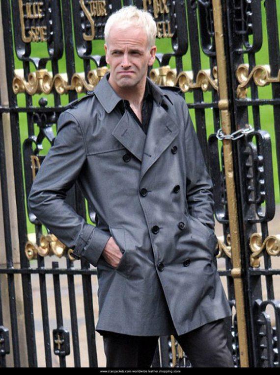 Jonny Lee Miller Gray Trench Coat