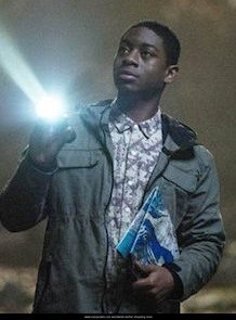 RJ Cyler Gray Leather Jacket in Power Rangers