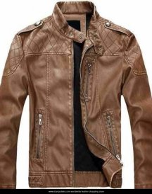 Thicken Warm PU Leather Jacket Motorcycle Coat For Men European American Style