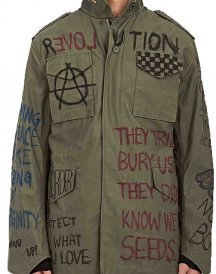 Antifa painted Anarchy Jacket from M65 Field