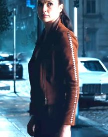 Gal Gadot Brown Jacket