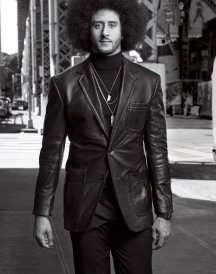 Kaepernick Is GQ's 2017 Citizen of the Year Black Leather Jacket Coat