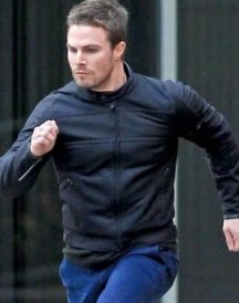 Oliver Queen Arrow Stephen Leather Jacket