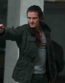 Orlando Bloom Movie Unblock Leather Jacket