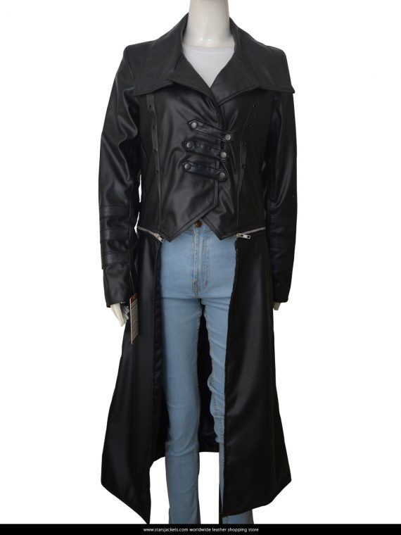 WWE-Becky-Lynch-Long-Trench-Coat