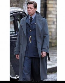 Allied Movie Brad Pitt Trench max-vatan-coat