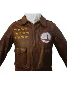 winns warrior Brown leather Jackets