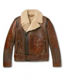 Danescroft leather-trimmed shearling jacket by Belstaff