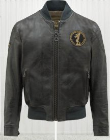Iron Bomber Black Leather Jacket