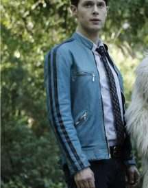 Samuel Barnett Dirk Gently's Holistic Blue Jacket