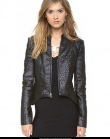 Black Leather Jacket Sam Morgan's