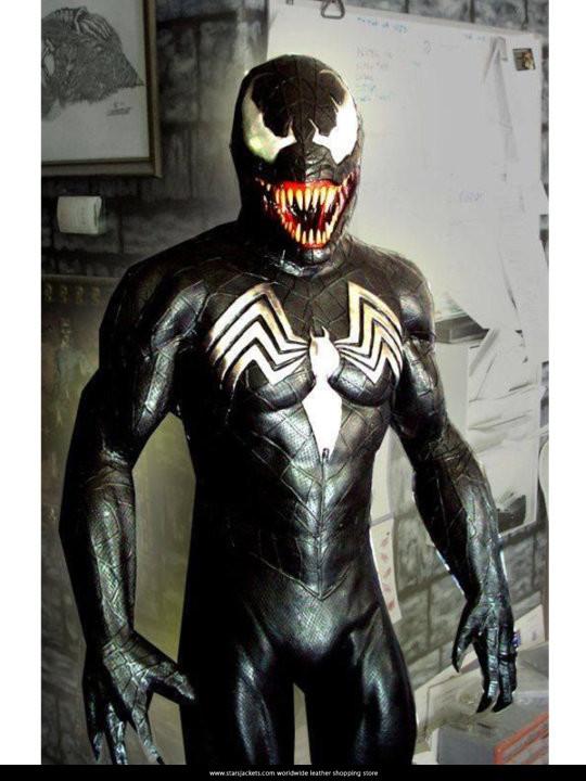 Eddie Brock Spider Man Venom Leather Jacket Stars Jackets