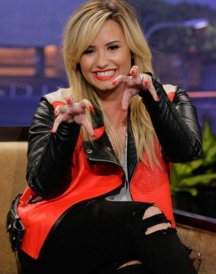Red-Motorcycle-Demi-Lovato-Leather-Jacket