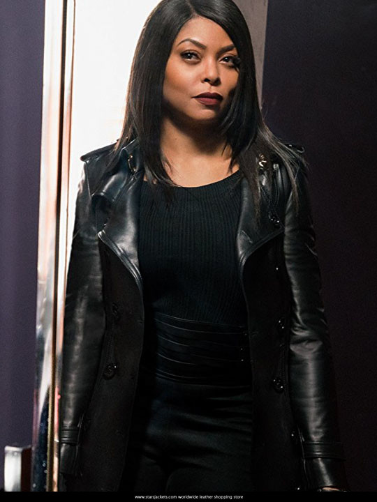 1738c58a95d0 Taraji P. Henson Proud Mary Black leather Coat - Stars Jackets