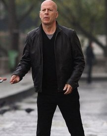 Bruce Willis Acts of Violence Black Jacket