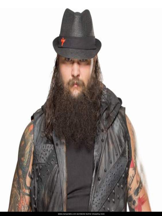 Bray Wyatt Black leather jacket