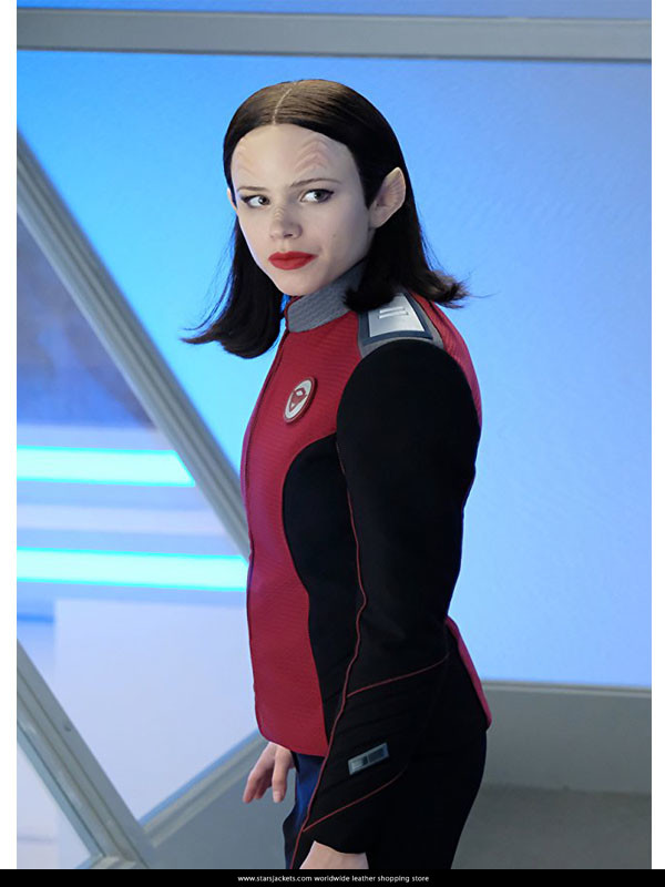 The Orville Lt Alara Kitan Security officer uniforms cosplay costume custom set