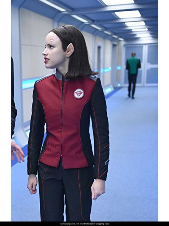 Halston Sage The Orville Red Jackets