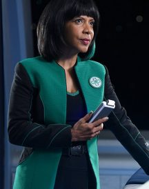 Penny Johnson Jerald in The Orville Green Jacket
