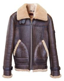 Althorne Tobacco Leather Aviator Jacket