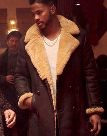 Trevor Jackson Leather Coat jacket