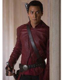 Daniel Wu Sunny Red Leather Jacket