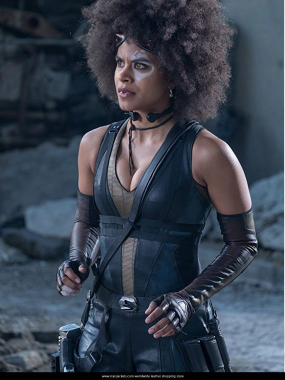 Zazie Beetz AS Domino Costume Jacket in Deadpool 2