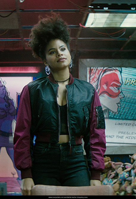 Zazie Beetz AS Domino Costume Jacket in Deadpool