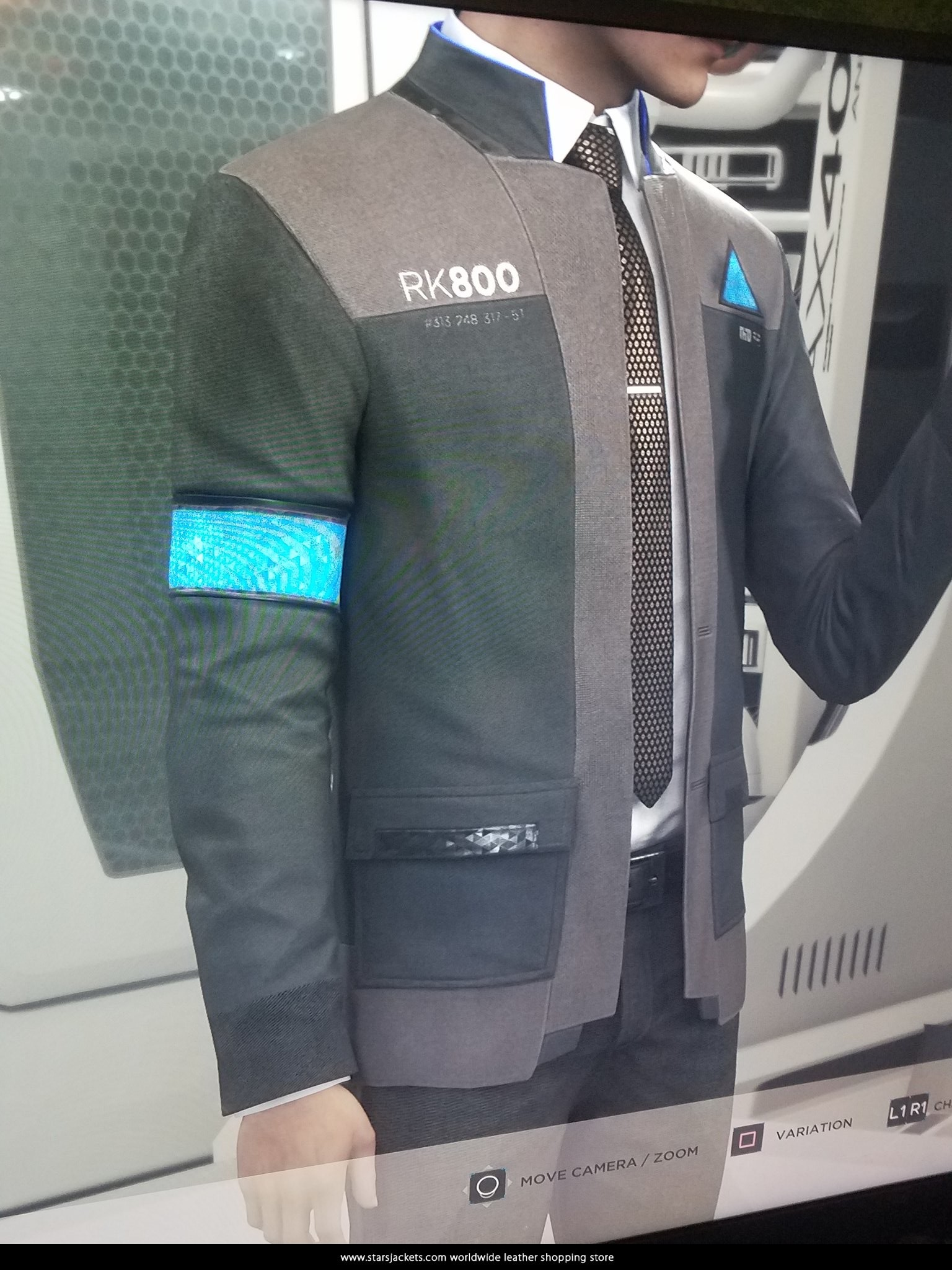 fc4dc3a61 Connor RK800 Detroit Become Human Black Jacket - Stars Jackets
