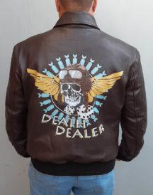 Death Dealer Skull Battlefield 5 Brown Jacket