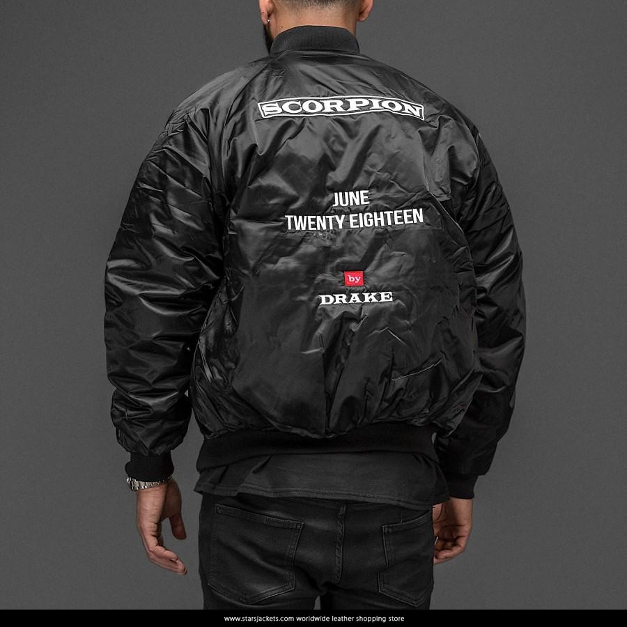 Scorpion Drake: Drake Scorpion Black Jacket