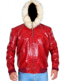 Exotic-Crocodile-Jacket-Fur-Hoodie-Red-leather-Jacket-5-450x600