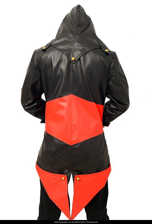 Assassins Creed 3 Leather Hoodie Jacket Stars Jackets