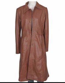 WOMEN BROWN LONG COAT Jacket