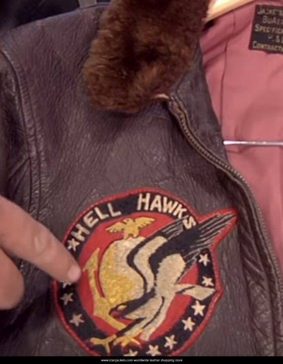 WWII Hell Hawks Bomber Jacket Logo