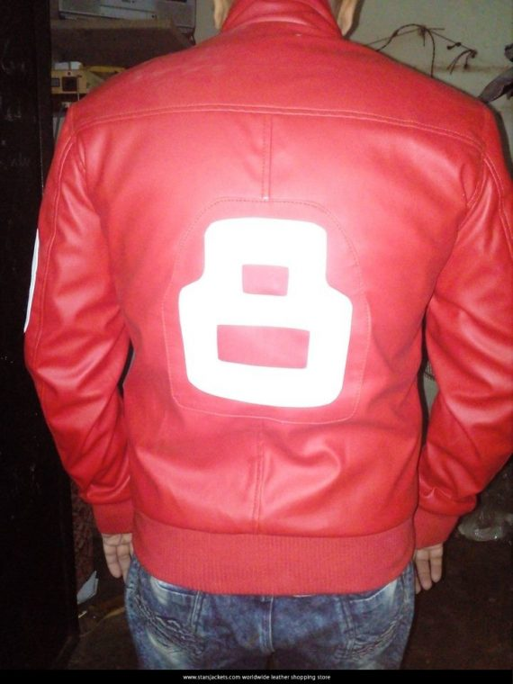 8 Balls Faux Leather Jacket