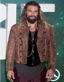 Aquaman Justice League Distressed Jacket