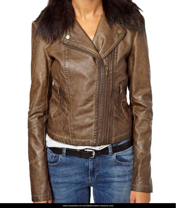 Clara-Oswald-Brown-Leather-Jacket