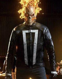 Ghost Rider Agent of Shield Robbie Leather Jacket